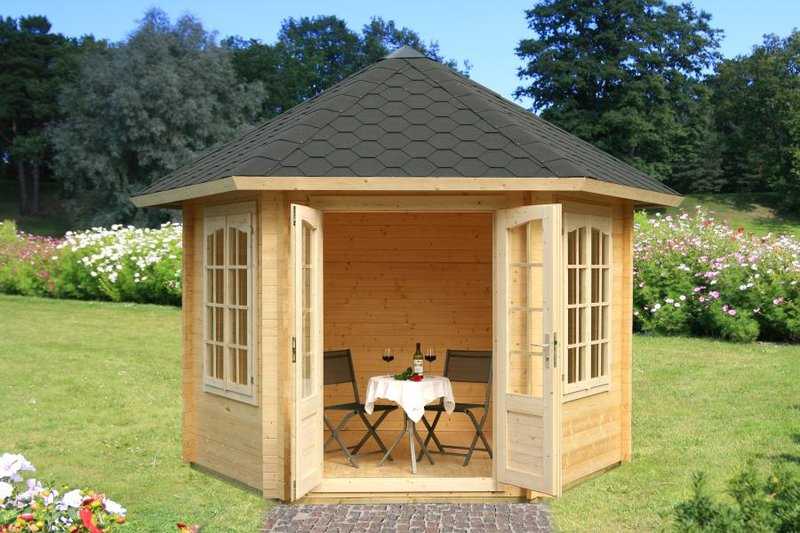 garten pavillon laube dorle 6eck sams gartenhaus shop. Black Bedroom Furniture Sets. Home Design Ideas