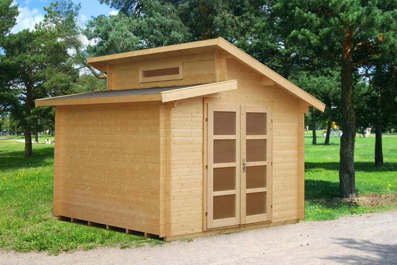 stufendach gartenhaus modern desiree sams gartenhaus shop. Black Bedroom Furniture Sets. Home Design Ideas