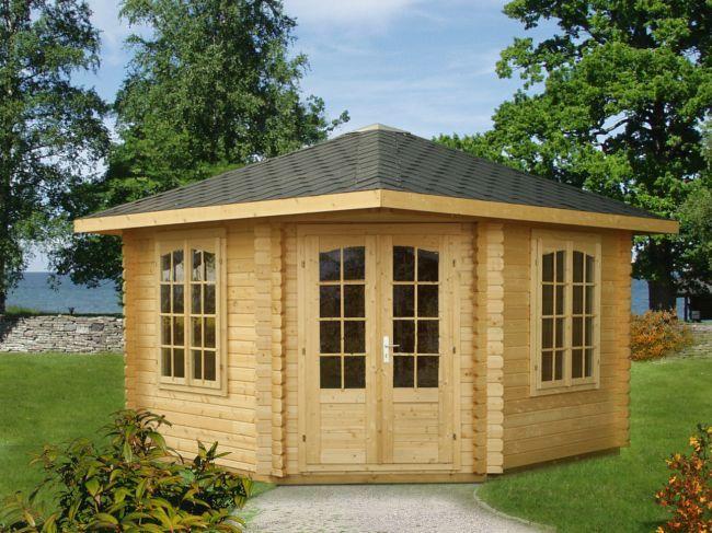gartenpavillon gartenhaus rebekka 5eck sams gartenhaus shop. Black Bedroom Furniture Sets. Home Design Ideas