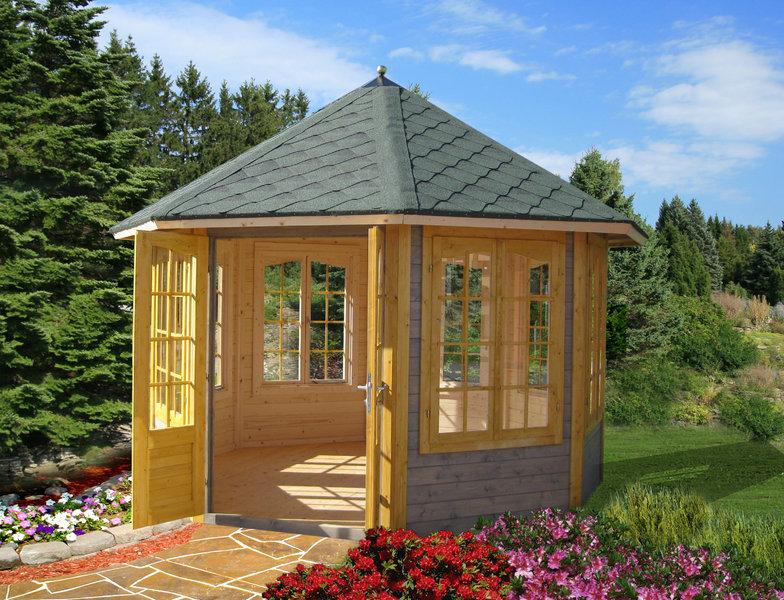 gartenpavillon chastity 7 8eck sams gartenhaus shop. Black Bedroom Furniture Sets. Home Design Ideas