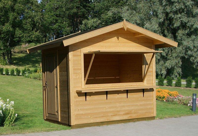 Verkaufsbude kiosk verkaufsstand sams gartenhaus shop for Kiosco de madera para jardin