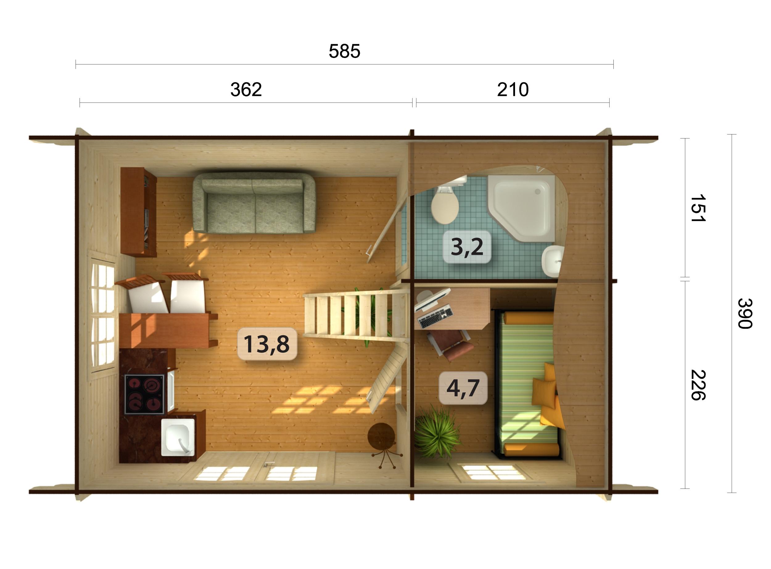 gartenhaus holz mit schlafboden. Black Bedroom Furniture Sets. Home Design Ideas