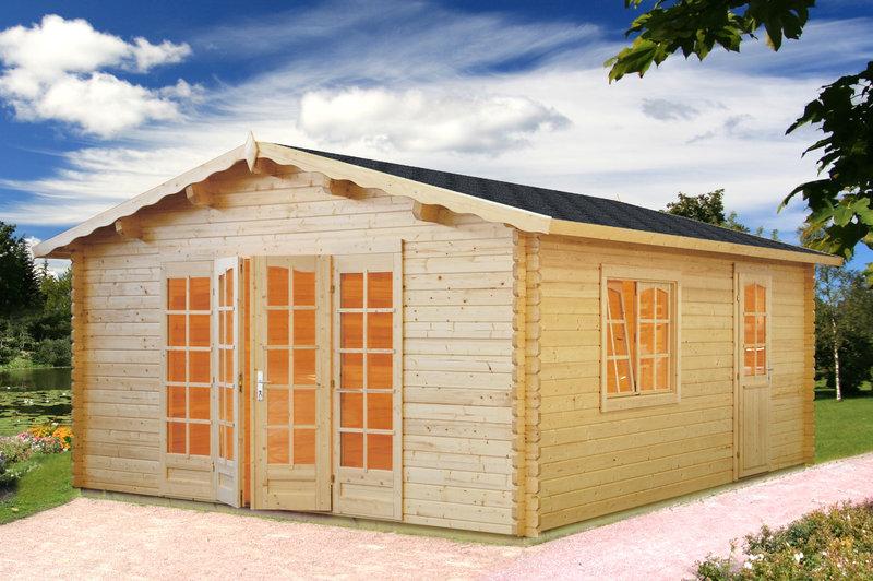 gartenhaus bewohnbar isolde 2 44mm sams gartenhaus shop. Black Bedroom Furniture Sets. Home Design Ideas
