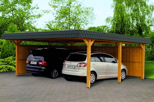 carport cultivation planning drawing garden house wood. Black Bedroom Furniture Sets. Home Design Ideas