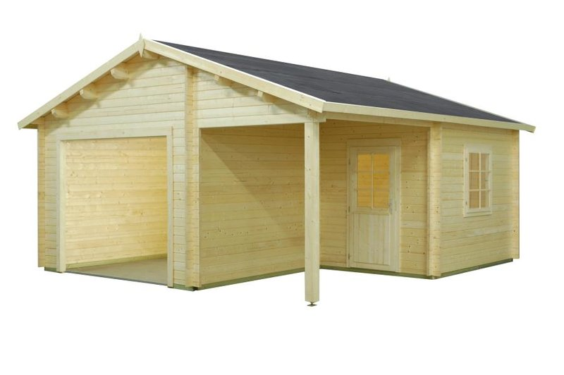 holzgaragen carport ohne tor sams gartenhaus shop. Black Bedroom Furniture Sets. Home Design Ideas