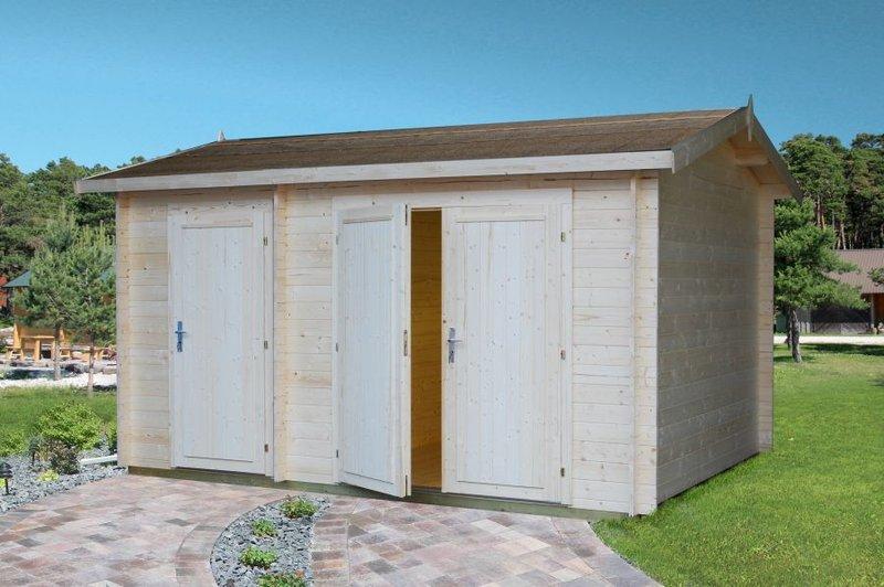 Allzweck motorradgarage 4x3m petra 2 sams gartenhaus shop for Casetas de metal para jardin