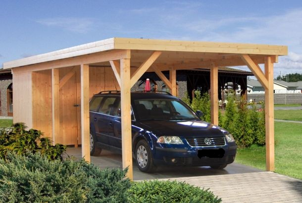 ger teschuppen f r carport kp2 sams gartenhaus shop. Black Bedroom Furniture Sets. Home Design Ideas
