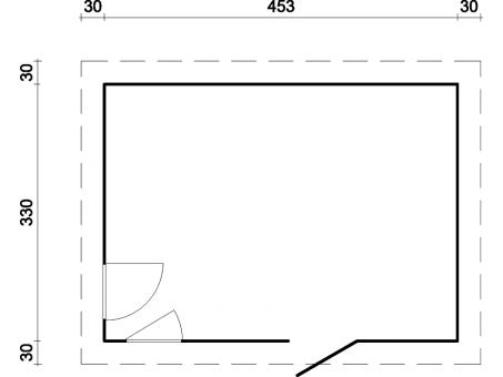 gartenhaus modern grau emma sams gartenhaus shop. Black Bedroom Furniture Sets. Home Design Ideas