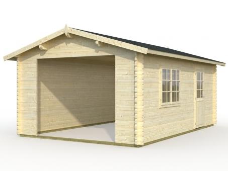 Fertiggarage Holz holzgarage fertiggarage ohne holztor - sams gartenhaus shop