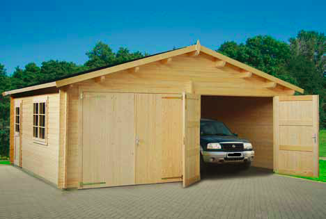 doppelgarage gigant mit holztor sams gartenhaus shop. Black Bedroom Furniture Sets. Home Design Ideas
