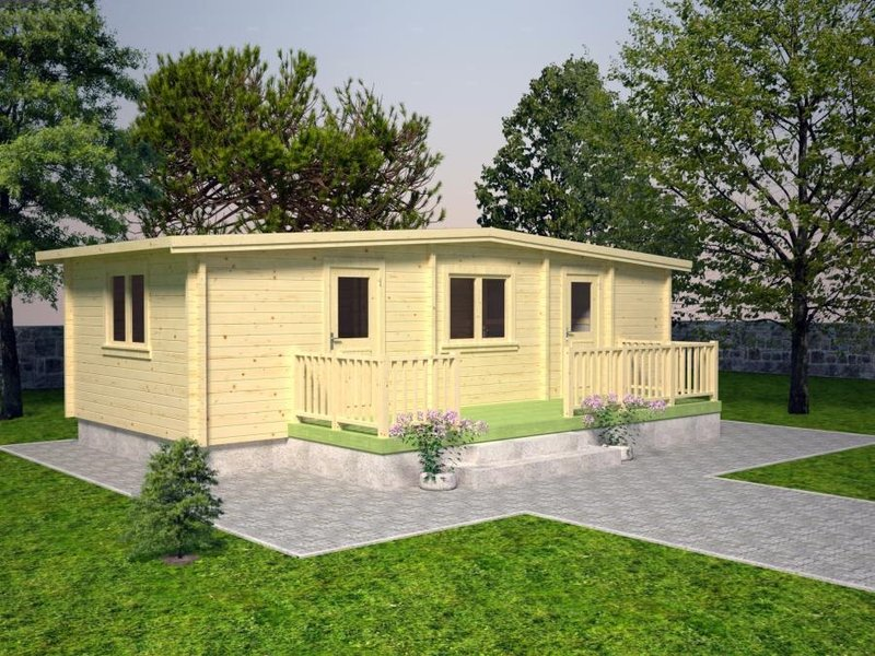 ferienhaus mobil home 70 sams gartenhaus shop. Black Bedroom Furniture Sets. Home Design Ideas