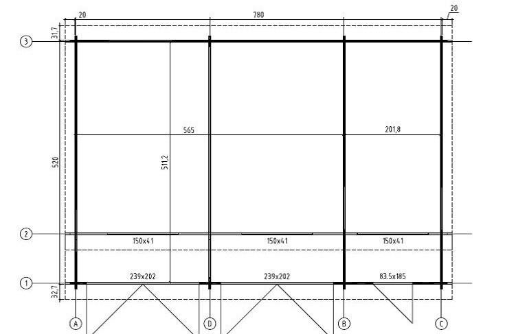 gro garage modern ohne tor sams gartenhaus shop. Black Bedroom Furniture Sets. Home Design Ideas