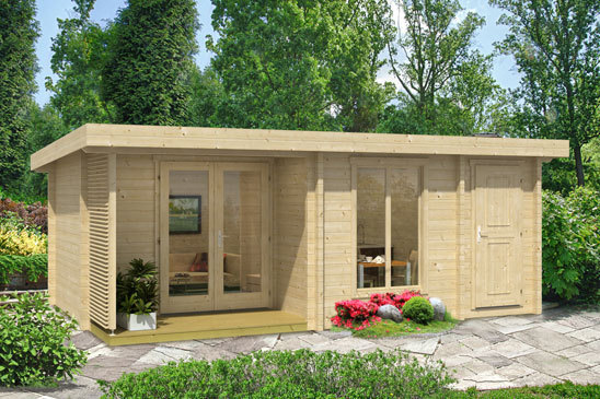 wochenendhaus kleines modernes 70a sams gartenhaus shop. Black Bedroom Furniture Sets. Home Design Ideas