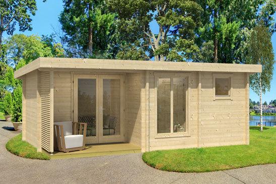 Wochenendhaus kleines modernes 70b sams gartenhaus shop for Wochenendhaus modern