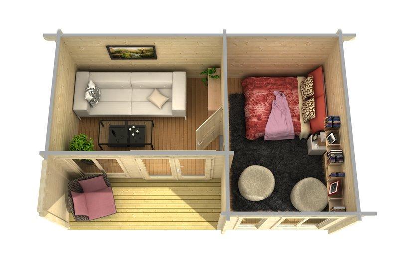 Wochenendhaus kleines modernes 70g sams gartenhaus shop for Wochenendhaus modern