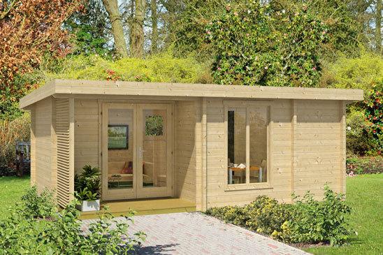 Wochenendhaus kleines modernes 70i sams gartenhaus shop for Wochenendhaus modern