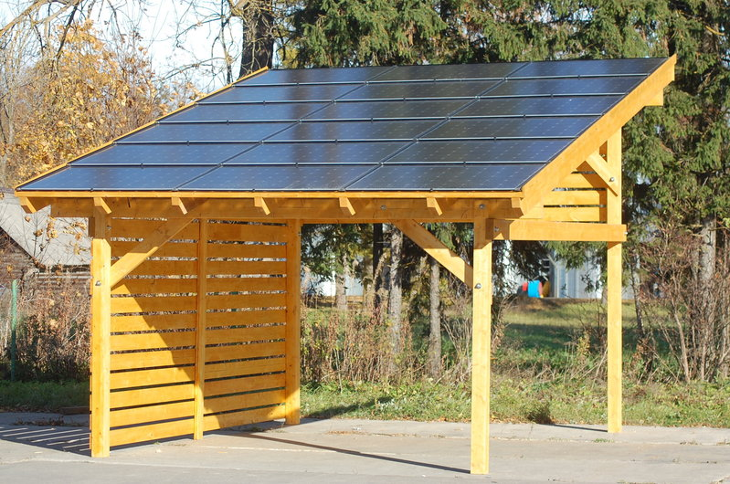 carport photovoltaikanlage kaufen sams gartenhaus shop. Black Bedroom Furniture Sets. Home Design Ideas
