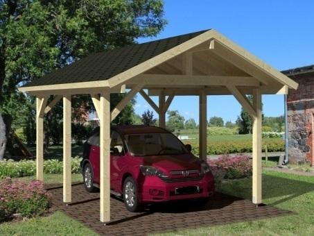 Dubbel carport byggsats