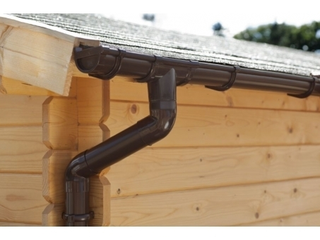 rain gutter for flat roof garden house wood shop. Black Bedroom Furniture Sets. Home Design Ideas