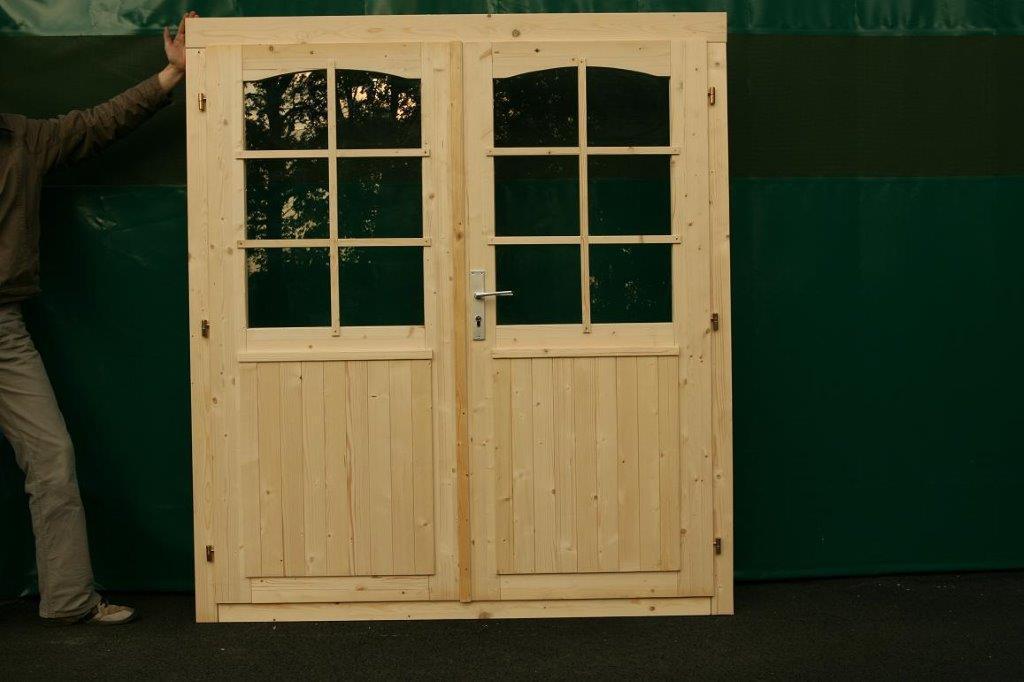 Gartenhaus Doppeltür halbverglast 34   Sams Gartenhaus Shop