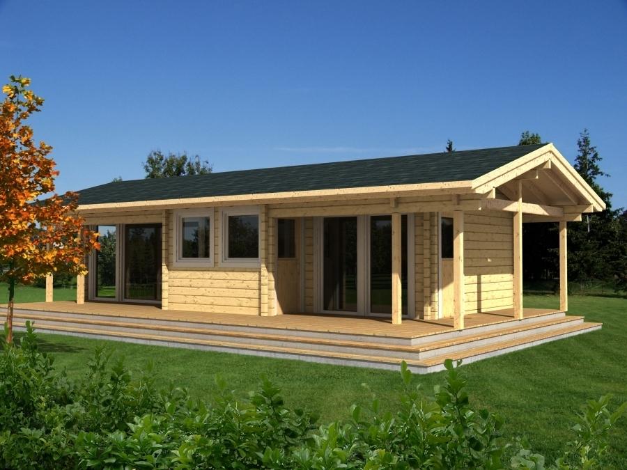 Geraumiges Freizeithaus Astrid 70mm Sams Gartenhaus Shop