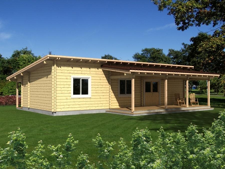 Wochenend ferienhaus solveig 88mm sams gartenhaus shop for Casas de madera shop