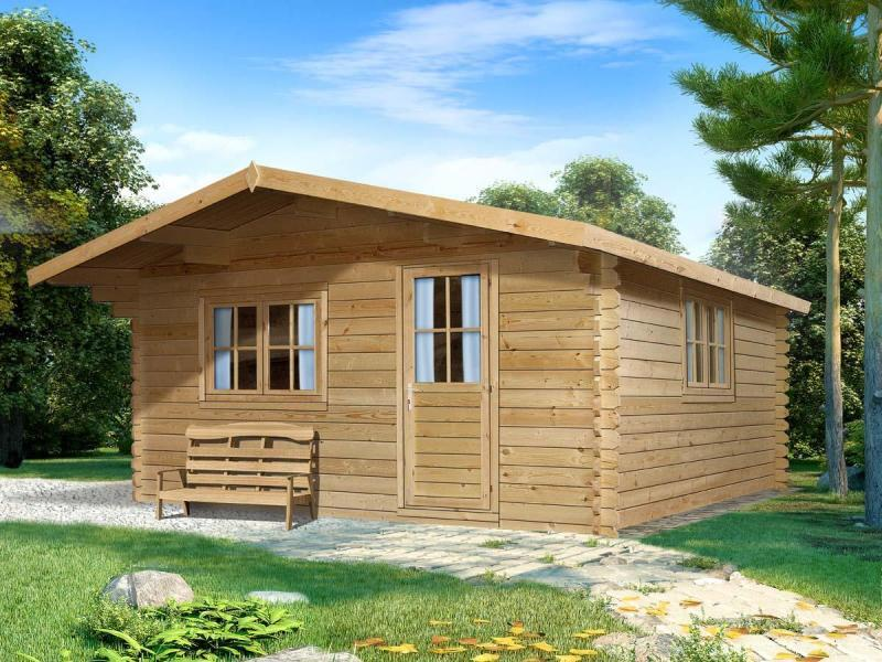 garden house 44mm dettelbach 3x3m garden house wood shop. Black Bedroom Furniture Sets. Home Design Ideas