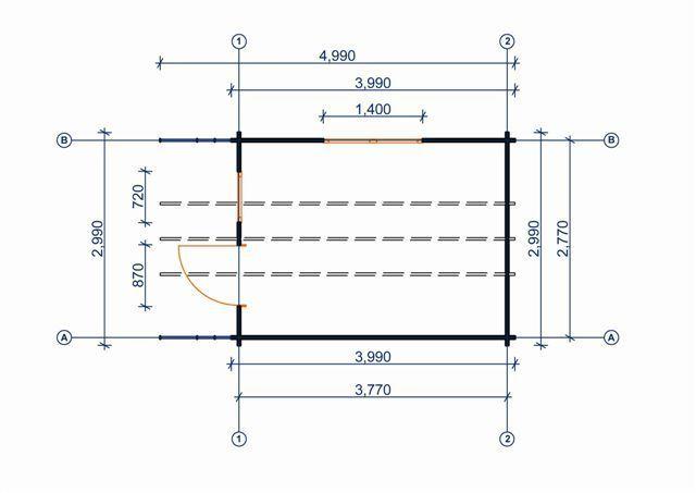 gartenhaus 34 mm luckau 3x4m sams gartenhaus shop. Black Bedroom Furniture Sets. Home Design Ideas