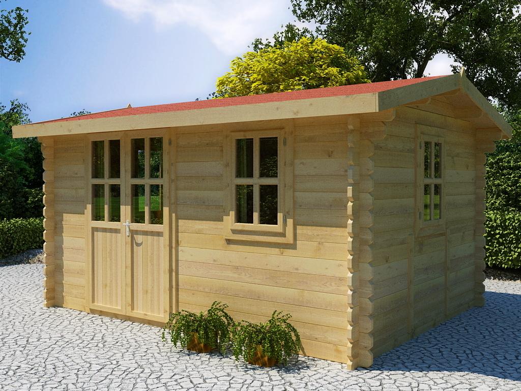 gartenhaus 34 mm romanus 1 sams gartenhaus shop. Black Bedroom Furniture Sets. Home Design Ideas