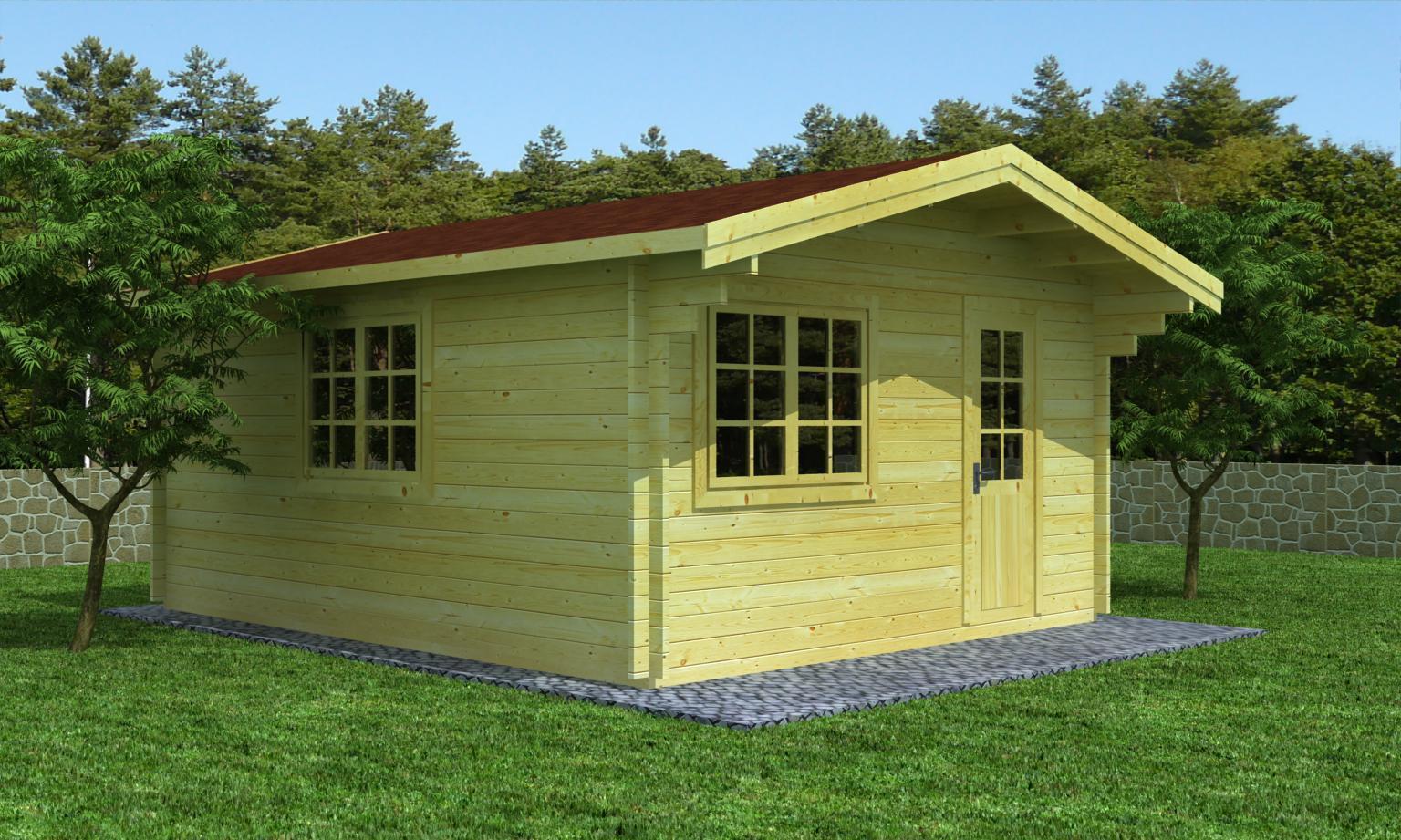 freizeithaus modell bayreuth 70 sams gartenhaus shop. Black Bedroom Furniture Sets. Home Design Ideas