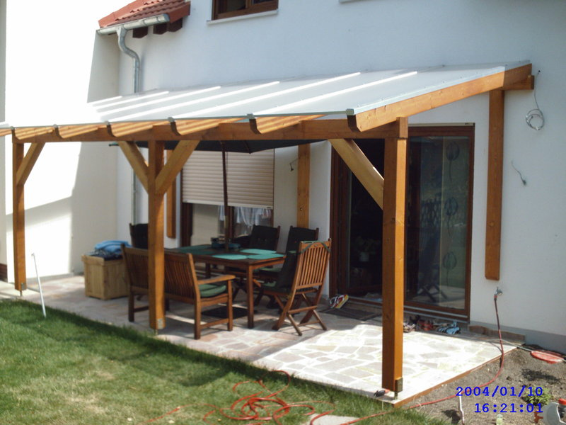 Construction Timber Patio Roof 5 Garden House Wood Shop