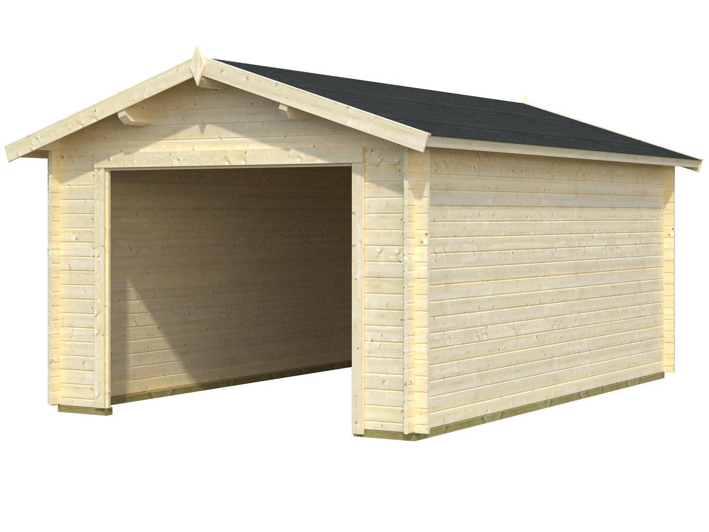 einzelgarage holz ohne tor und fenster sams gartenhaus shop. Black Bedroom Furniture Sets. Home Design Ideas
