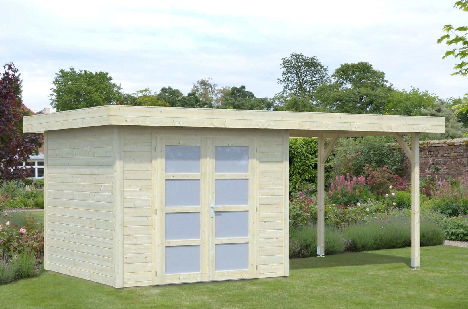 gartenhaus modern liont 1 sams gartenhaus shop. Black Bedroom Furniture Sets. Home Design Ideas