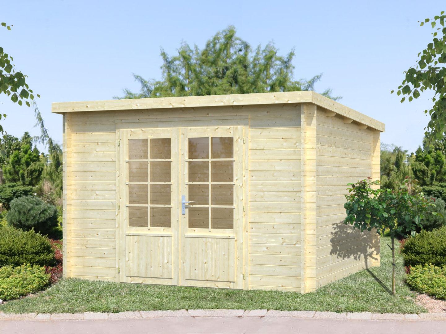 gartenhaus modern malina 2b sams gartenhaus shop. Black Bedroom Furniture Sets. Home Design Ideas