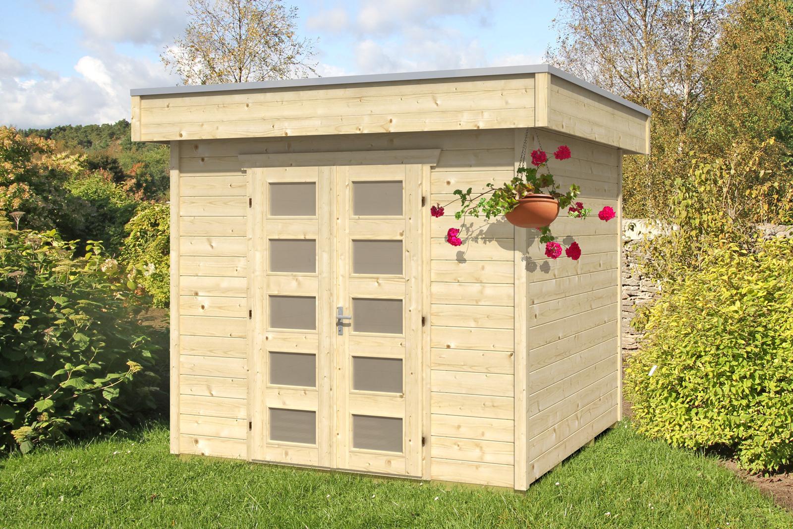 log cabin roof modern elten garden house wood shop. Black Bedroom Furniture Sets. Home Design Ideas