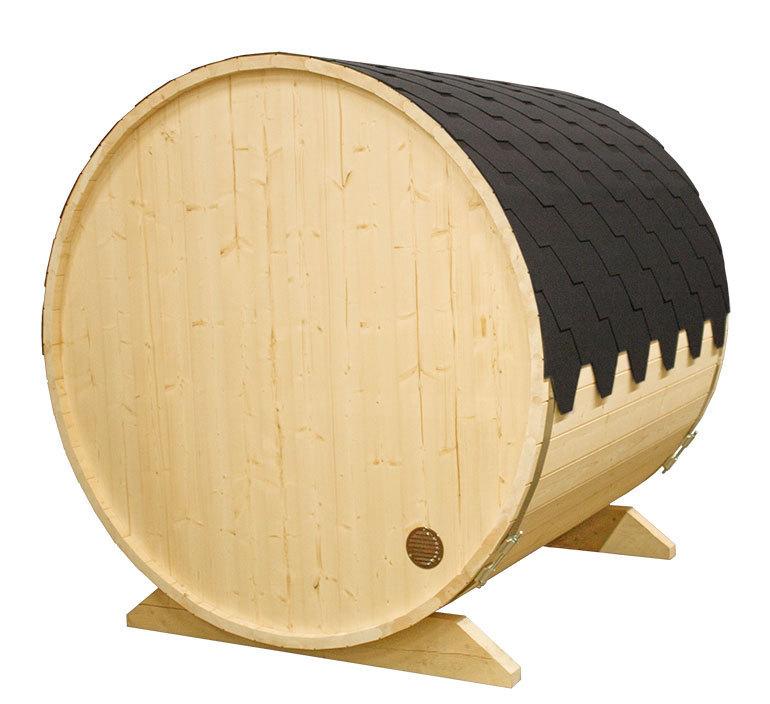 sauna barrel lying sauna e stove garden house wood shop. Black Bedroom Furniture Sets. Home Design Ideas