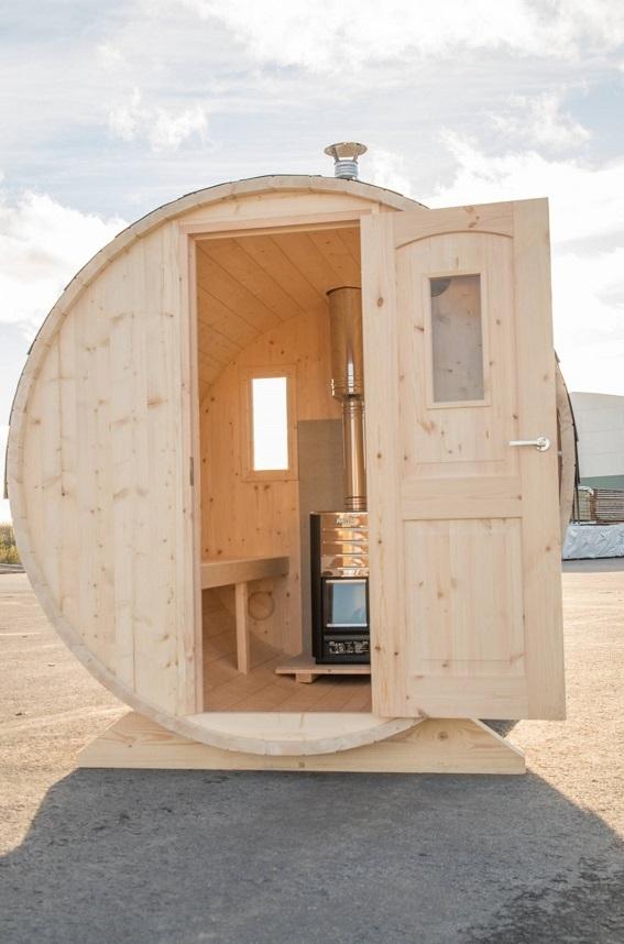 fasssauna saunafass ohne ofen sams gartenhaus shop. Black Bedroom Furniture Sets. Home Design Ideas