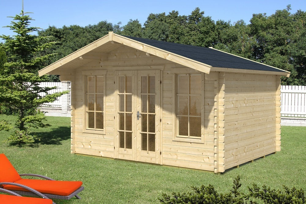 Log Cabin Stable Wall Structure Garden House Wood Shop
