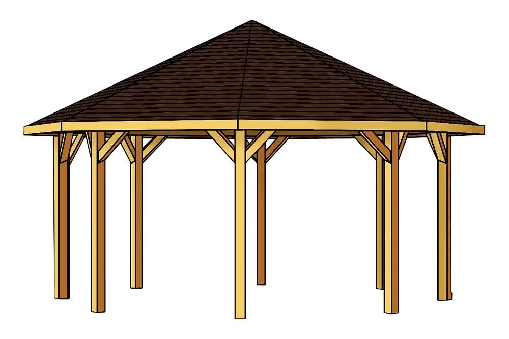 gartenlaube 8eck pavillon leimholz sams gartenhaus shop. Black Bedroom Furniture Sets. Home Design Ideas