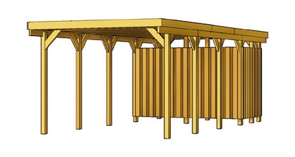 carport flachdach nadelholz l3 sams gartenhaus shop. Black Bedroom Furniture Sets. Home Design Ideas