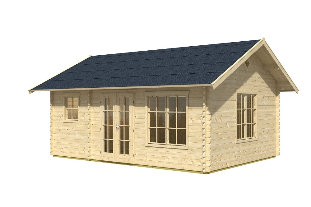 blockbohlenhaus e2 mit stauboden sams gartenhaus shop. Black Bedroom Furniture Sets. Home Design Ideas