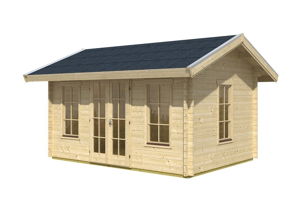 blockbohlenhaus l1 f r dachschindeln sams gartenhaus shop. Black Bedroom Furniture Sets. Home Design Ideas