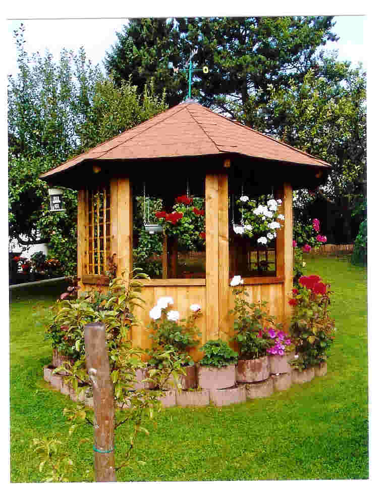 6 eck garten pavillon kvh 3 00m x 3 00m sams gartenhaus shop. Black Bedroom Furniture Sets. Home Design Ideas