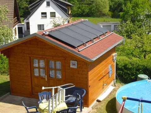 Block plank house Aachen Solar   Garden House wood Shop