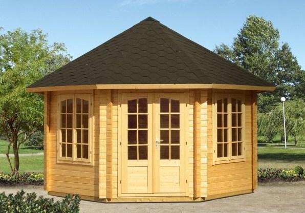 gartenpavillon gartenhaus nadine 8eck sams gartenhaus shop. Black Bedroom Furniture Sets. Home Design Ideas