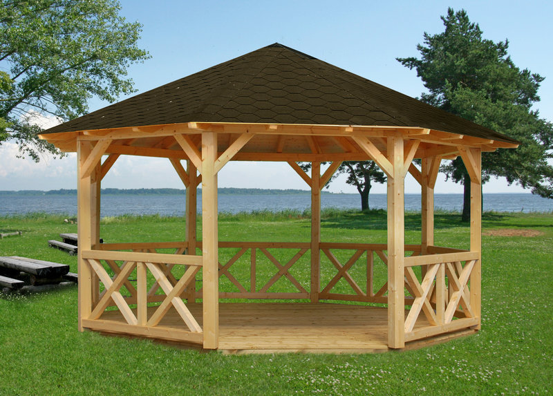 Arbour from wood Wolfgang 8eck   Garden House wood Shop
