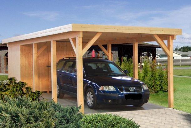 carport anbau bauen hilfe zeichnung sams gartenhaus shop. Black Bedroom Furniture Sets. Home Design Ideas