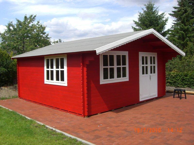 Gartenhaus Modell Schweden Rot   Sams Gartenhaus Shop