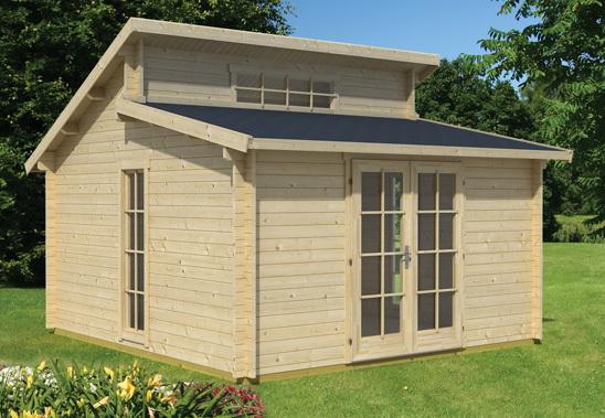 stufendach gartenhaus modern rotterdam sams gartenhaus shop. Black Bedroom Furniture Sets. Home Design Ideas