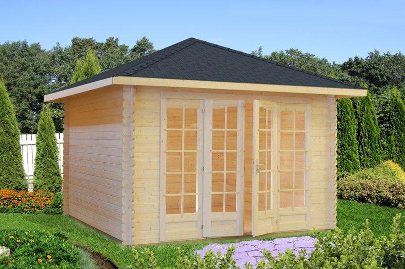 gartenpavillon pyramidendach 4eck sams gartenhaus shop. Black Bedroom Furniture Sets. Home Design Ideas